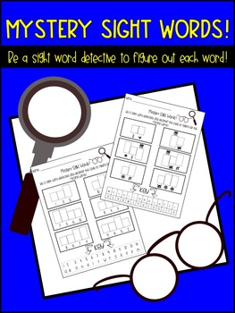 Word Work (Mystery Sight Word Practice!)