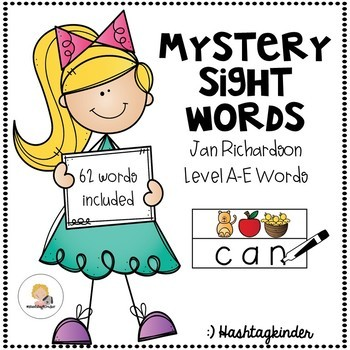Mystery Sight Words - Jan Richardson Level A-E Words