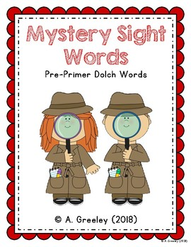 Mystery Sight Words - Dolch Pre-Primer Words