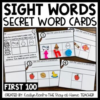 Secret Sight Words Fry's First 100