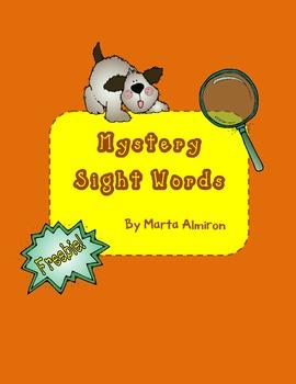 Mystery Sight Words - July Freebie