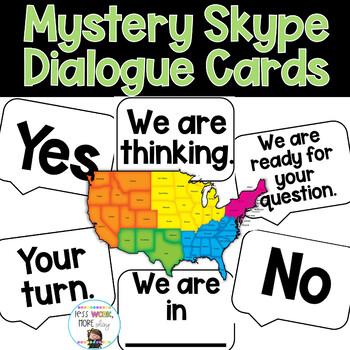 Mystery Skype Dialogue Cards