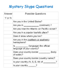 Mystery Skype Questions - International Exchange