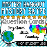Mystery Skype/Mystery Hangout Questions - Cards for country, state, town/city
