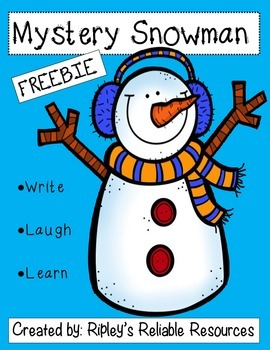 Mystery Snowman ~ Writing Activity