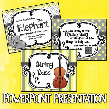 Mystery Song Music Listening: The Elephant