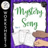 Mystery Song Worksheets {Set 1} Great for Distance Learning
