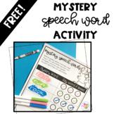 Mystery Speech Words Activity- Free