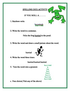 Mystery Spelling Activity