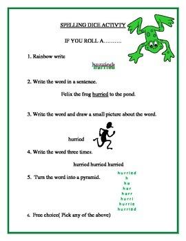 Mystery Spelling Activity