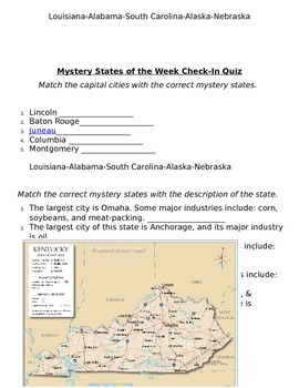 Mystery State of the Week for all 50 States!