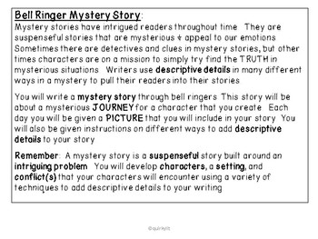 Mystery Story Bell Ringers - Using Descriptive Details
