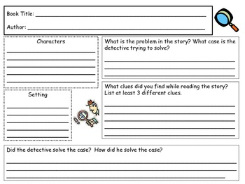 Mystery Story Map/Detective Story Map