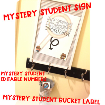 Mystery Student: An EDITABLE Classroom Management Essential