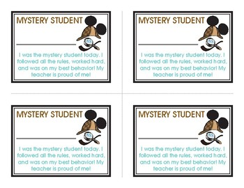 Mystery Student Cards