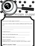 Mystery Student Ice Breaker #2
