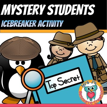 First Day of School Free Icebreaker Game - Mystery Students