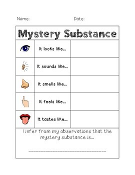 Mystery Substance Science Inference