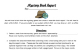 Mystery T-Shirt Book Report