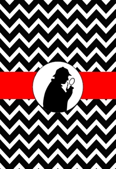 Mystery Theme Chevron Binder Cover Detective, Spy theme
