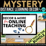 Mystery Theme | Online Teaching Backdrop | Google Classroo
