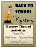 Mystery Themed Back to School Activities