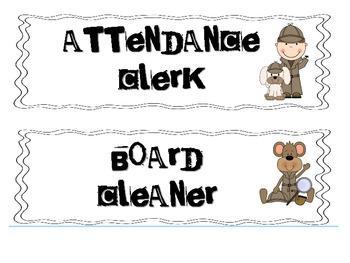 Mystery Themed Job Board