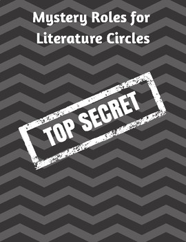 Mystery Themed Roles for Literature Circle