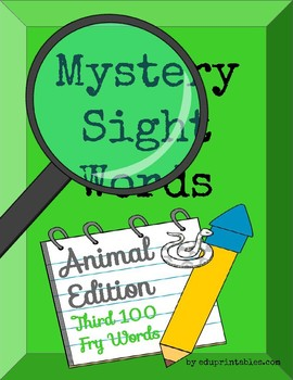 Mystery Third 100 Fry Sight Words - Animal Edition