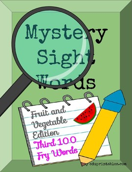 Mystery Third 100 Fry Sight Words - Fruit and Vegetable Edition