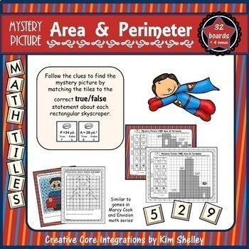 Mystery Tile Area and Perimeter BUNDLE