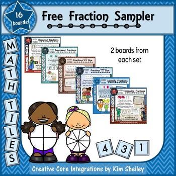 Mystery Tile Fraction FREEBIE Sampler