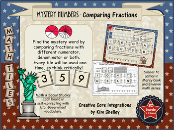 Mystery Tile Fraction Game BUNDLE