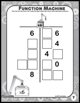 Mystery Tile Function Machine Multiplication Game