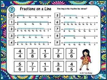 Mystery Tile LENGTH of Fraction Line Game