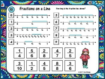Mystery Tile LENGTH of Fraction Line Game