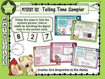 Mystery Tile Telling Time Sampler FREEBIE
