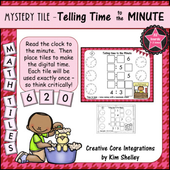 Mystery Tile Telling Time to the MINUTE