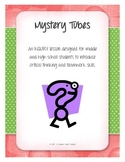 Mystery Tubes, Inquiry, Nature of Science