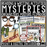 Mystery Unit Reading and Writing Activities- Mystery Genre Print & Go
