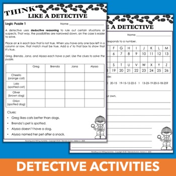 Mystery Unit Activities - Read, Write, and Think Like a Detective Bundle