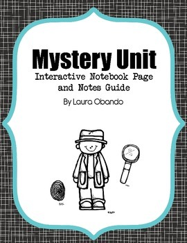Mystery Unit Foldable and Notes