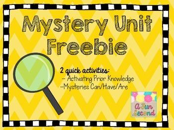 Mystery Unit Freebie - 2 Graphic Organizers