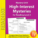 Mystery Unit: High-Interest Mysteries for Reading Level 2