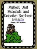 Mystery Unit Materials and Detective Notebook