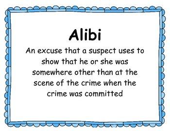 Mystery Unit Vocabulary