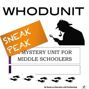 Mystery Unit for Middle Schoolers: SNEAK PEAK