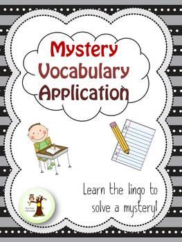 Mystery Vocabulary Application