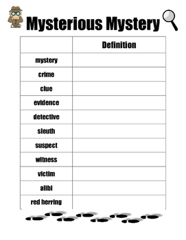Mystery Vocabulary Poster