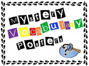 Mystery Vocabulary Posters